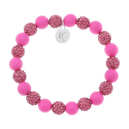 Liz Claiborne Pink Round Stretch Bracelet