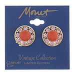 Monet Jewelry Pink Clip On Earrings