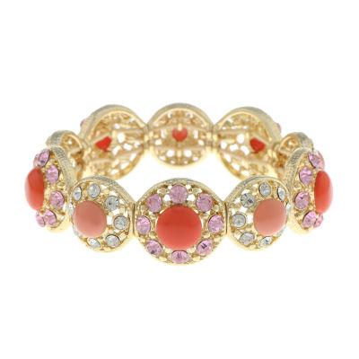 Monet Jewelry 90th Anniversary Pink Stretch Bracelet