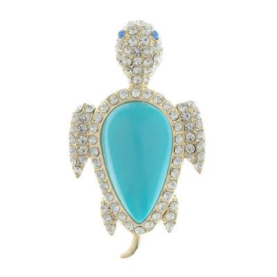Monet Jewelry 90th Anniversary Blue Pin