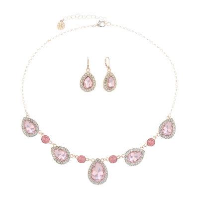 Monet Jewelry Pink Rose Tone 2-pc. Jewelry Set