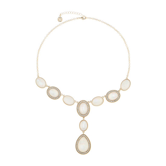 Monet Jewelry White 18 Inch Cable Y Necklace