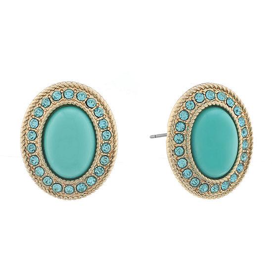 Monet Jewelry Blue 22mm Stud Earrings