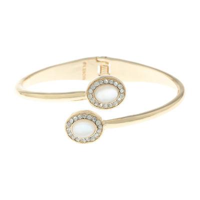 Monet Jewelry White Gold Tone Bangle Bracelet