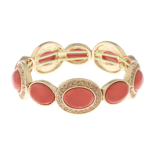 Monet Jewelry Orange Stretch Bracelet