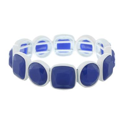 Liz Claiborne Electric Avenue Blue Square Stretch Bracelet