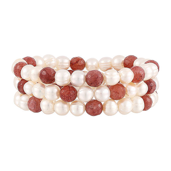 LIMITED QUANTITIES! Honora Legacy Womens White Stretch Bracelet