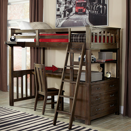 Highlands Loft Bed with Desk and Chair
