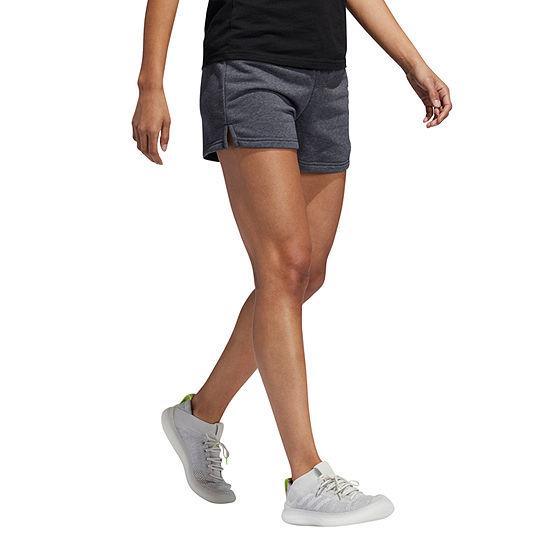 """adidas Linear Logo Ft Short Womens Mid Rise 3"""" Running Short"""