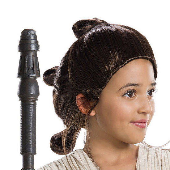 Star Wars Girls Rey Wig- ChildOne-Size