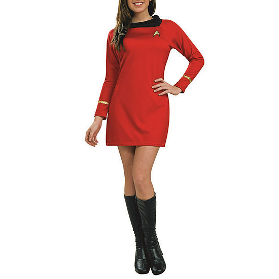 Star Trek Classic Deluxe Red Dress Adult Dress Up Costume
