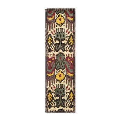 Safavieh Ikat Collection Frazier Floral Runner Rug