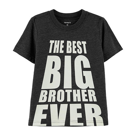 Carter's Boys Round Neck Short Sleeve Graphic T-Shirt-Toddler