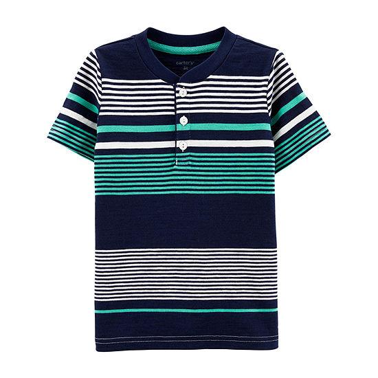 Carters Boys Short Sleeve Henley Shirt Toddler