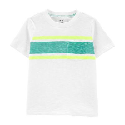 Carter's Boys Round Neck Short Sleeve T-Shirt-Toddler
