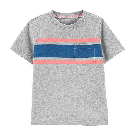 Carters Boys Round Neck Short Sleeve T Shirt Toddler