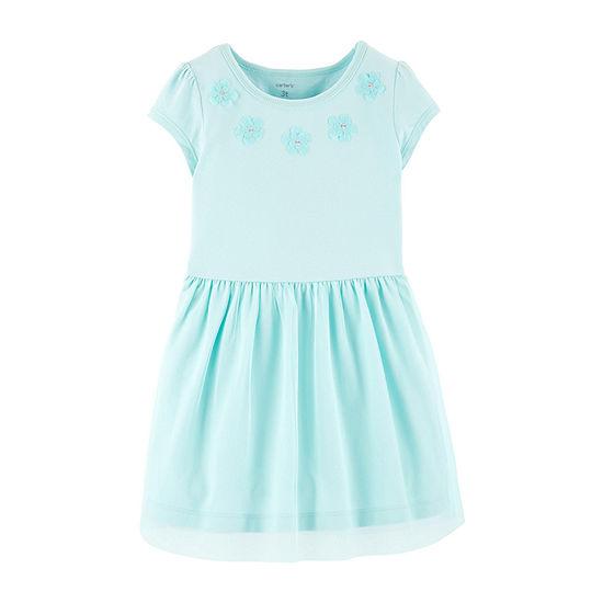 Carters Short Sleeve Tutu Dress Toddler Girls