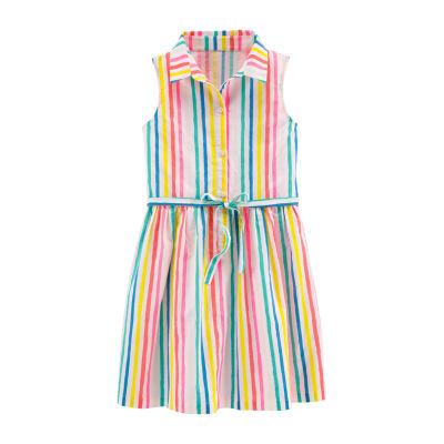 Carter's Sleeveless Shirt Dress - Preschool Girls