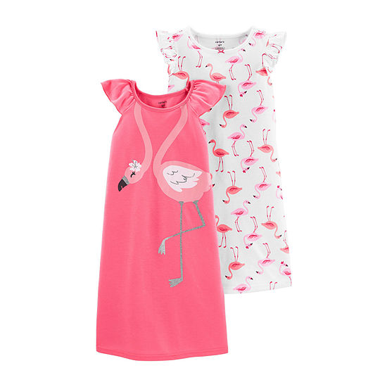 Carters Girls Knit Nightgown Round Neck