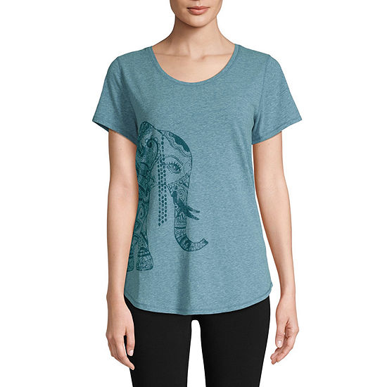c97a45e9b5aea St. John's Bay Active Womens Crew Neck Short Sleeve Graphic T-Shirt -  JCPenney