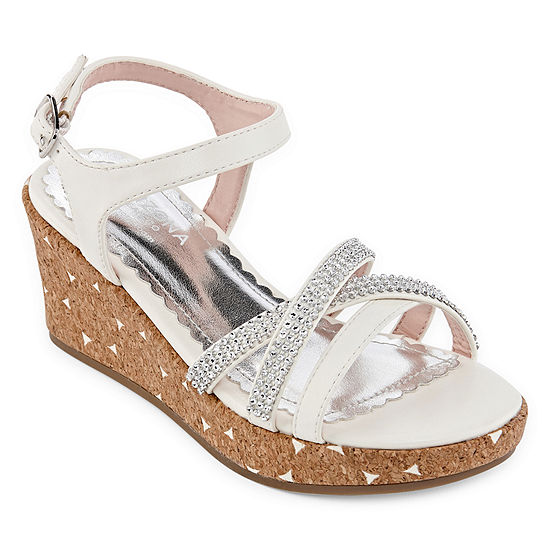 Arizona Big Kids Girls Cake Wedge Sandals