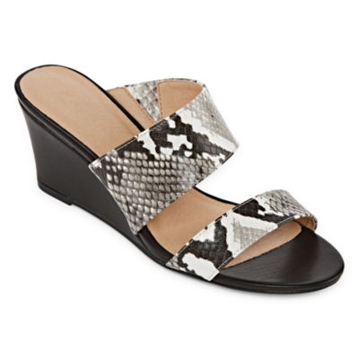 CL by Laundry Womens Tinkering Wedge Sandals