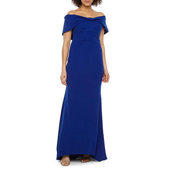 Blu Sage Off The Shoulder Evening Gown