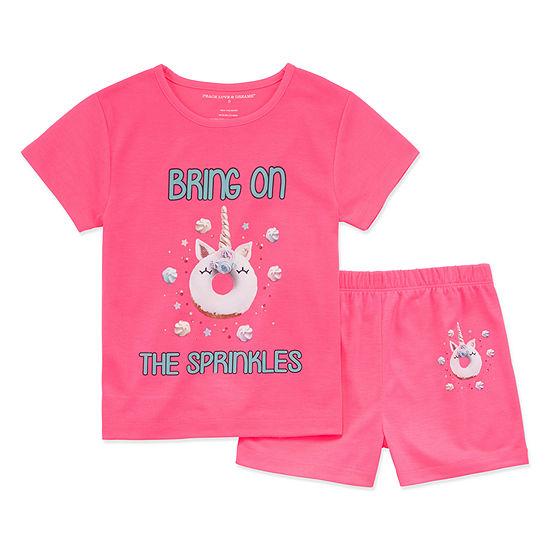 Peace Love And Dreams 2-pc. Shorts Pajama Set Preschool Girls