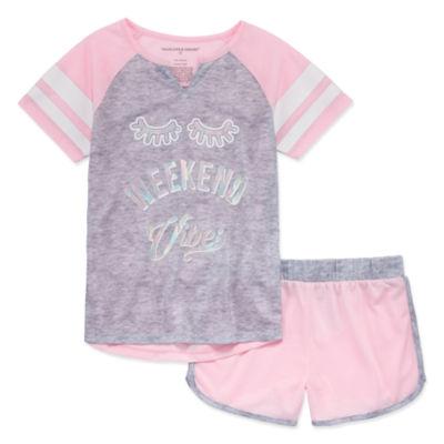 Peace Love And Dreams 2-pc. Shorts Pajama Set Big Kid Girls
