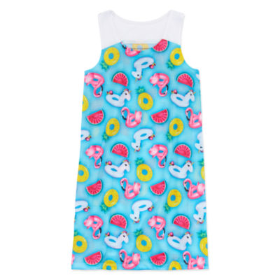 Peace Love And Dreams Girls Nightshirt Sleeveless Round Neck