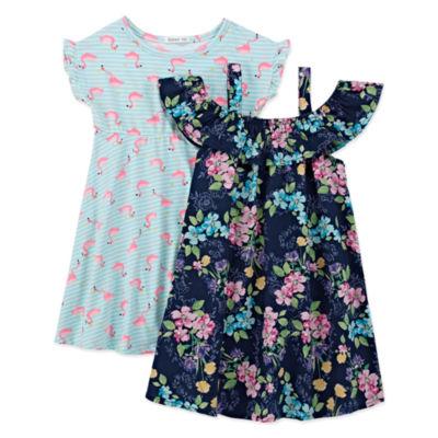 Forever Me Short Sleeve Dress Set - Toddler Girls