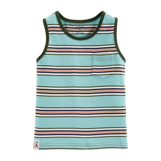 Carter's Boys Round Neck Sleeveless Muscle T-Shirt - Baby