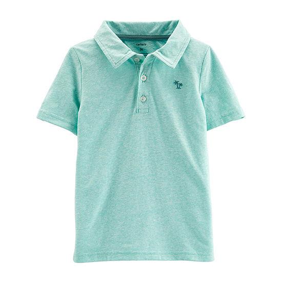 Carters Boys Spread Collar Short Sleeve Polo Shirt Toddler