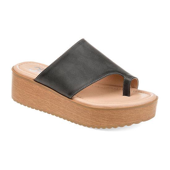 Journee Collection Womens Arabel Wedge Sandals
