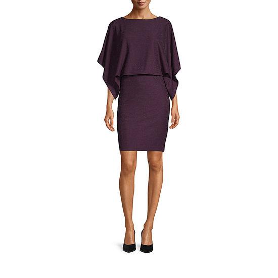 Jessica Howard 3/4 Sleeve Blouson Dress