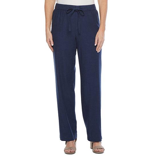Liz Claiborne Womens Wide Leg Drawstring Pants - Tall