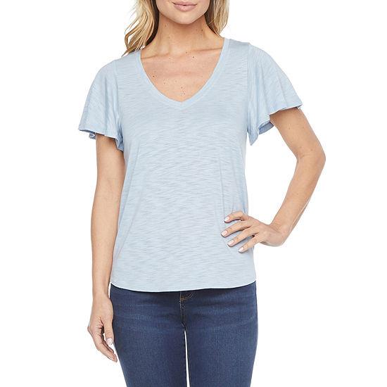 a.n.a Womens Tall V Neck Short Sleeve T-Shirt