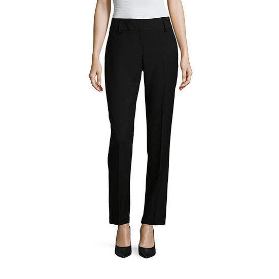 Worthington Curvy Perfect Straight Leg Curvy Fit Straight Trouser