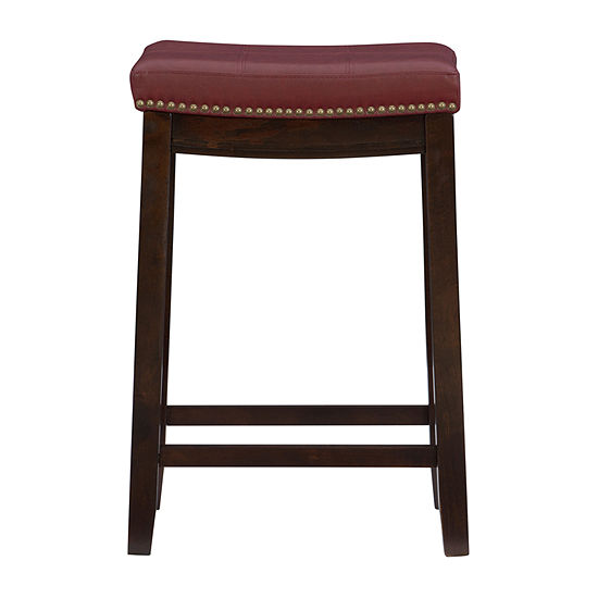 Lakeland Upholstered Backless Counter Stool