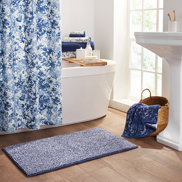 Fieldcrest Jacquard Tossed Bouquet Bath Towel