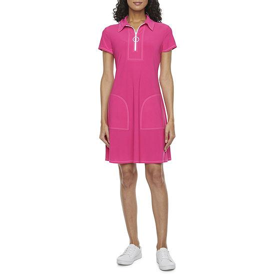 MSK Short Sleeve Shift Dress