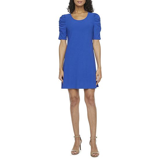 MSK Short Sleeve Swing Dresses