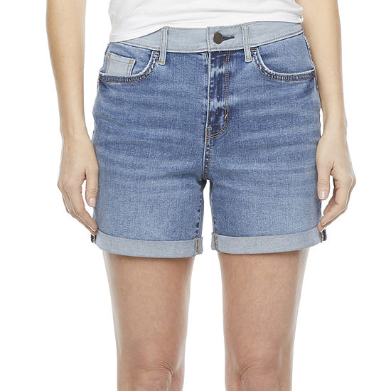 "a.n.a Womens High Rise 5"" Denim Short-Tall"