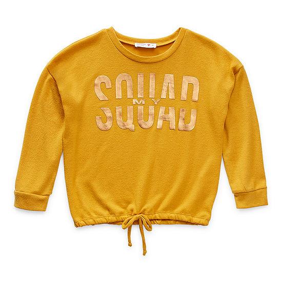 Knit Works Big Girls Round Neck 3/4 Sleeve Graphic T-Shirt