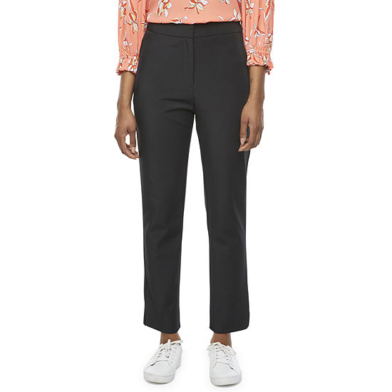 Worthington Womens High Rise Classic Fit Ankle Pant