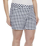"St. John's Bay Womens 5"" Chino Short-Plus"