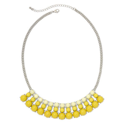 Mixit™ Yellow Stone Frontal Necklace