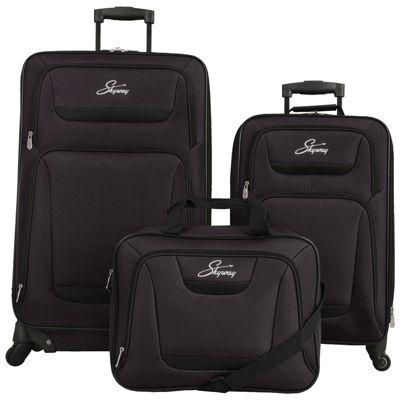 Skyway® Glacier Peak Black 3-pc. Luggage Set