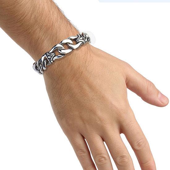 Mens Stainless Steel Chain Link Bracelet