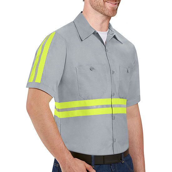 Red Kap® Short-Sleeve Enhanced Visibility Work Shirt - Big & Tall